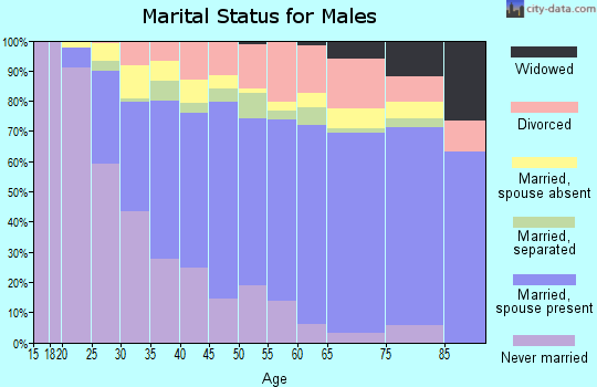 Zip code 92201 marital status for males