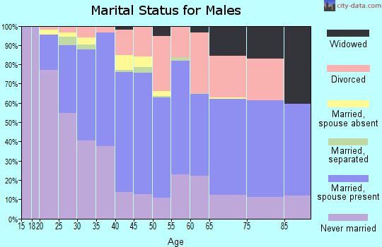 Zip code 92240 marital status for males