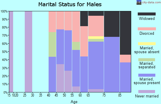 Zip code 92242 marital status for males