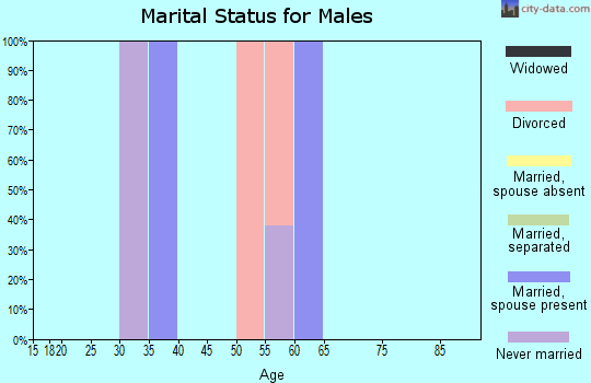 Zip code 92258 marital status for males