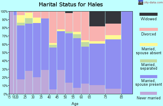 Zip code 92277 marital status for males