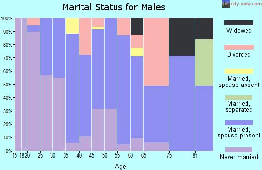 Zip code 92359 marital status for males