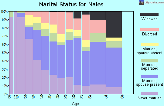 Zip code 92394 marital status for males