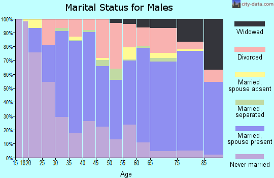 Zip code 92545 marital status for males