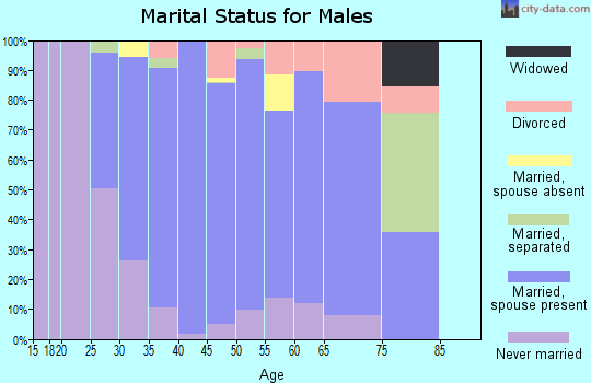 Zip code 92610 marital status for males