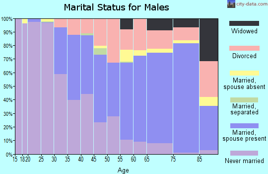 Zip code 92663 marital status for males