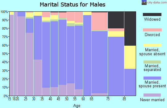 Zip code 92881 marital status for males