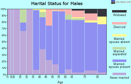 Zip code 93108 marital status for males