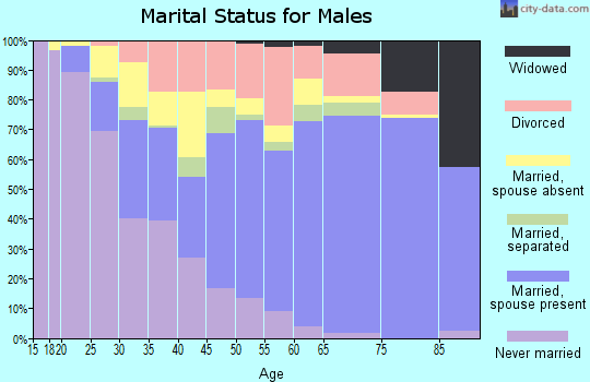 Zip code 93561 marital status for males