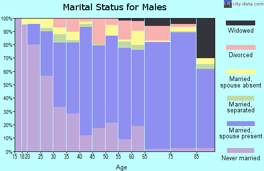 Zip code 93654 marital status for males
