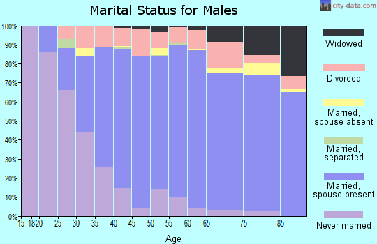Zip code 93720 marital status for males