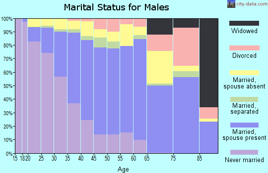 Zip code 93905 marital status for males