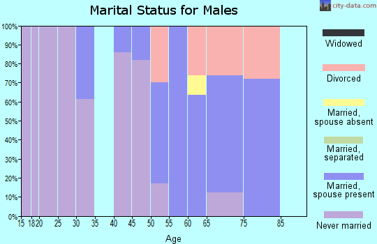Zip code 94020 marital status for males
