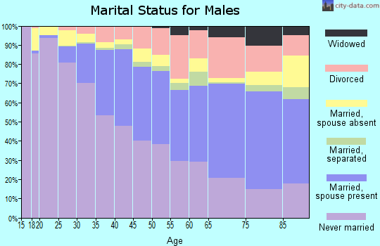 Zip code 94110 marital status for males