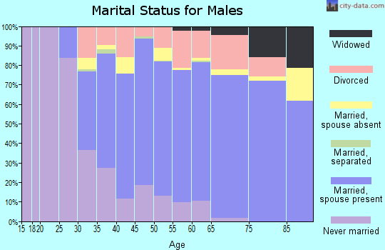 Zip code 94510 marital status for males