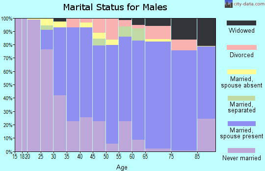 Zip code 94564 marital status for males