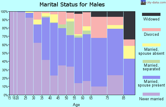 Zip code 94703 marital status for males