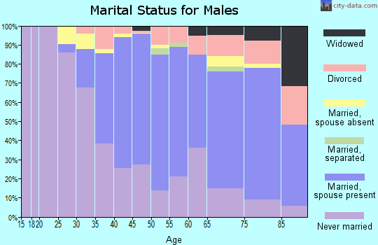 Zip code 94705 marital status for males