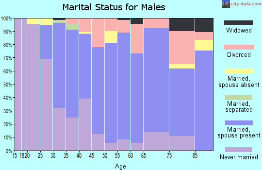 Zip code 94949 marital status for males