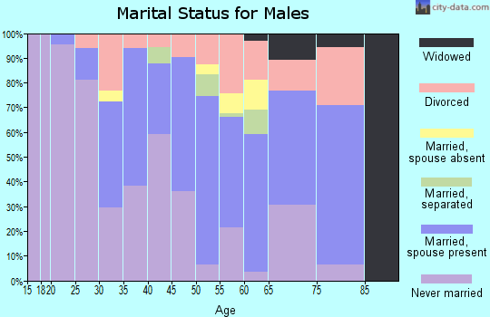 Zip code 95010 marital status for males