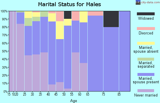 Zip code 95012 marital status for males