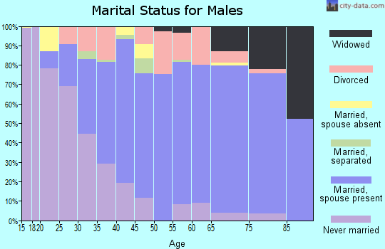 Zip code 95540 marital status for males