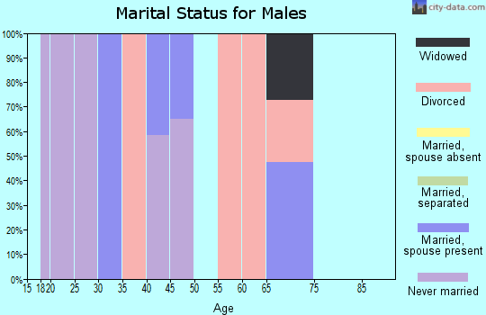 Zip code 95553 marital status for males