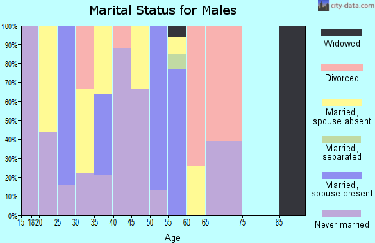 Zip code 95560 marital status for males