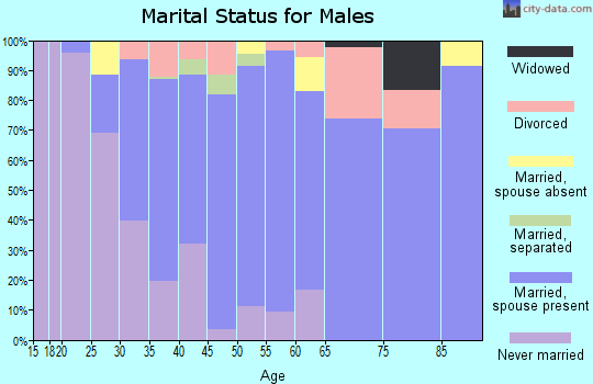 Zip code 95694 marital status for males