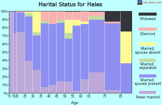 Zip code 95948 marital status for males