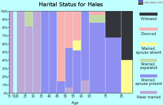 Zip code 96034 marital status for males