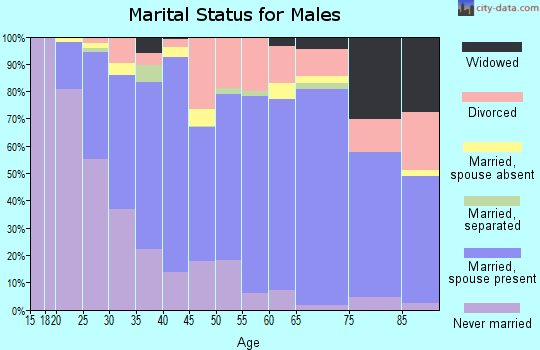 Zip code 97103 marital status for males
