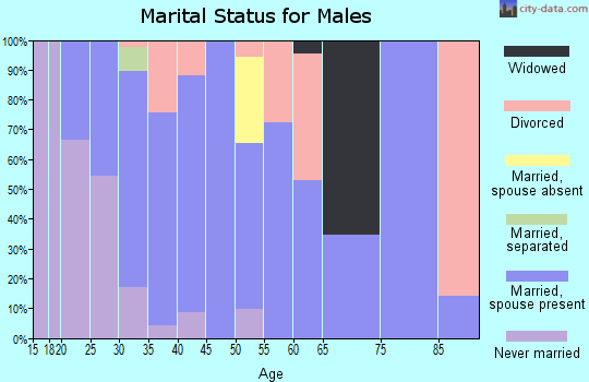 Zip code 97127 marital status for males