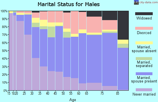 Zip code 97230 marital status for males
