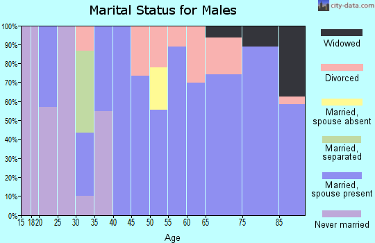 Zip code 97416 marital status for males