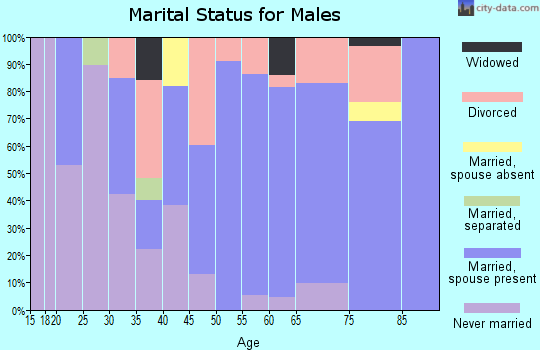 Zip code 97435 marital status for males