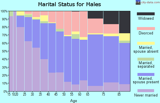 Zip code 98002 marital status for males