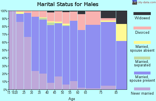 Zip code 98038 marital status for males