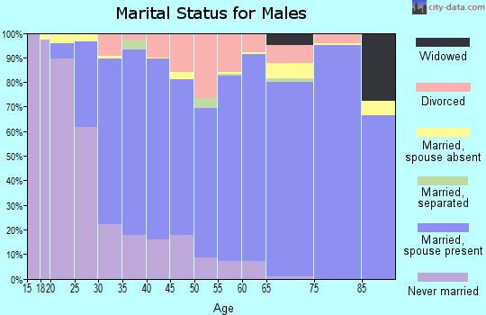 Zip code 98059 marital status for males