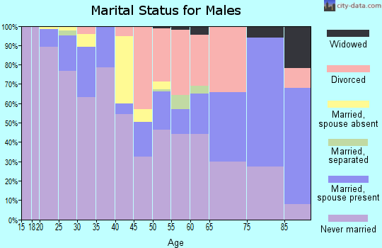 Zip code 98101 marital status for males