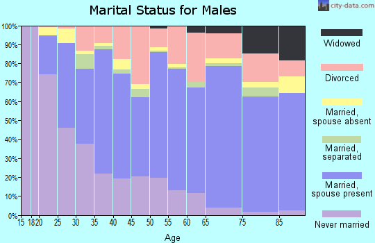 Zip code 98312 marital status for males