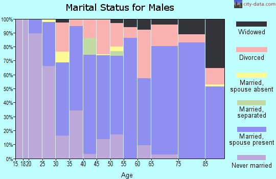 Zip code 98328 marital status for males