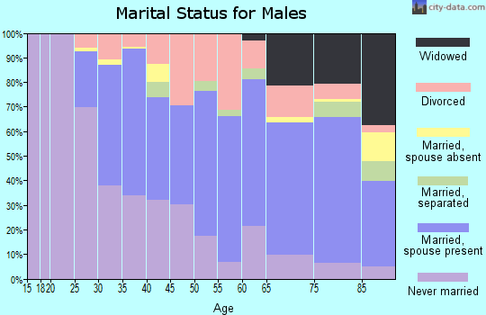 Zip code 98408 marital status for males