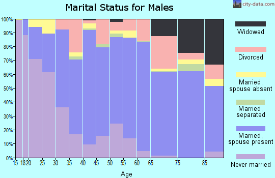 Zip code 98466 marital status for males