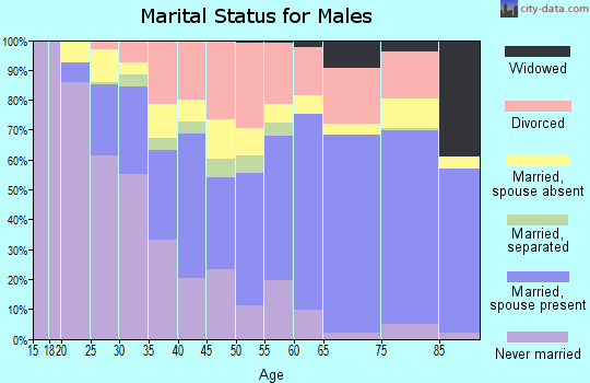 Zip code 98520 marital status for males