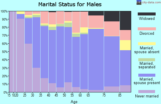 Zip code 98682 marital status for males