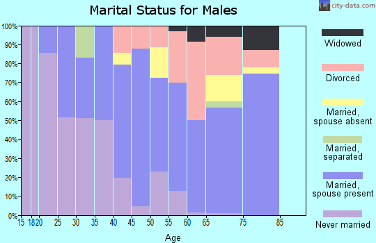 Zip code 98844 marital status for males
