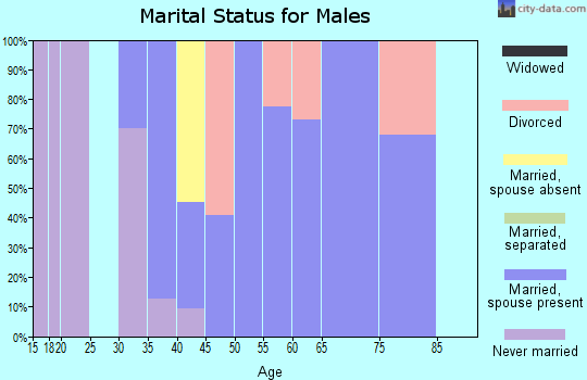 Zip code 98938 marital status for males