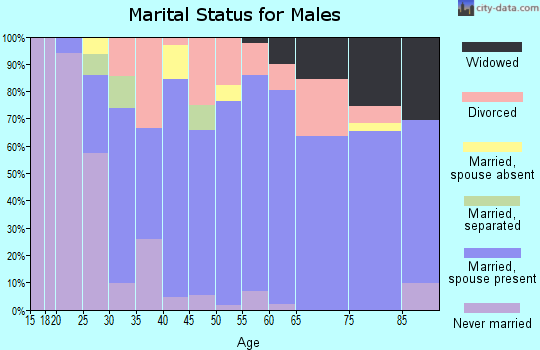 Zip code 98942 marital status for males