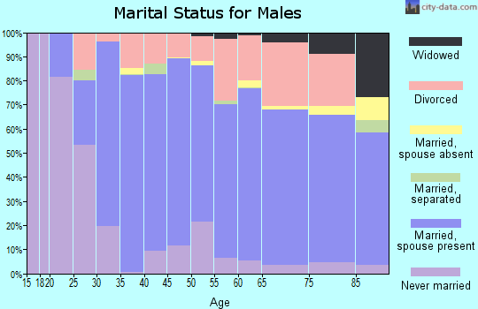 Zip code 99114 marital status for males